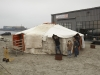 A traditional mongolian Yurt is being prepared for a ministerial meeting on tuesday.
